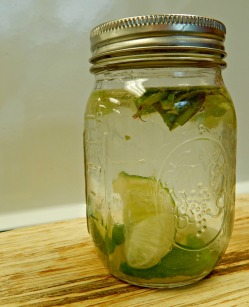 lime and mint water, flavoured water recipe