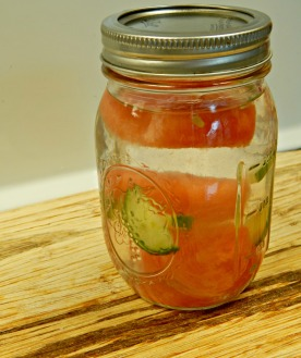 watermelon cucumber splash, flavoured water, recipe