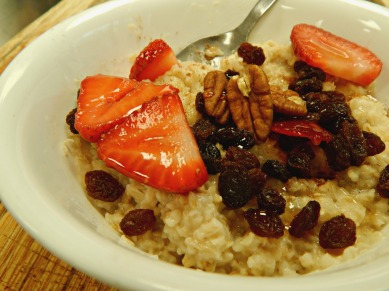 vitamin C rich food, iron, oatmeal, easy meal