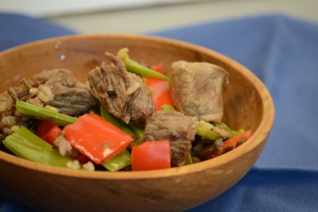 Bowl of beef stir-fry
