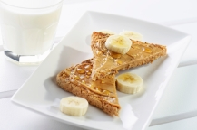 Toast Peanut Butter and Banana slices