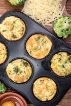 Egg omelette in muffin tray