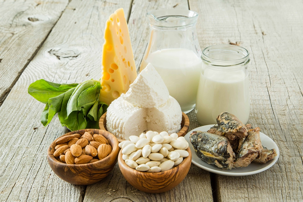 Selection of food that is rich in calcium
