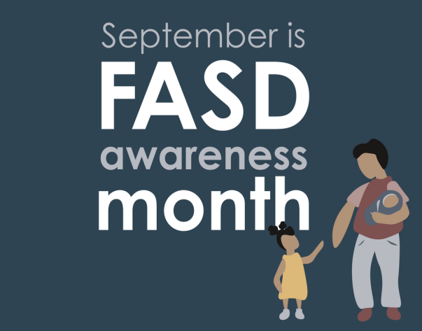 Illustration saying September is FASD awareness month